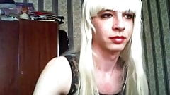 Vlada russian teen crossdresser on webcam