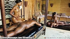 Sensual Ebony 4Way with Nuru Massage