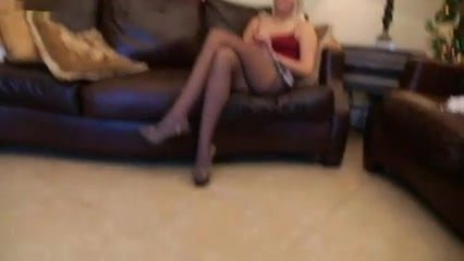 Seducing Danica with my Pantyhose Feet