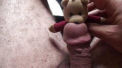 Poor teddy bear had to suck my dick