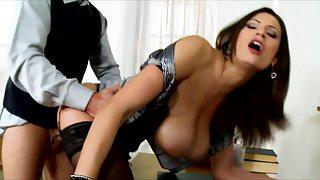 Sensual Jane Teacher With Big Tits