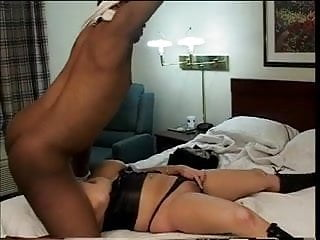 Thick busty white girl gets dicked down by a black guy