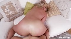 Blonde Mia gets her pussy fucked hard