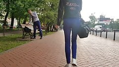 Small casual ass in the street