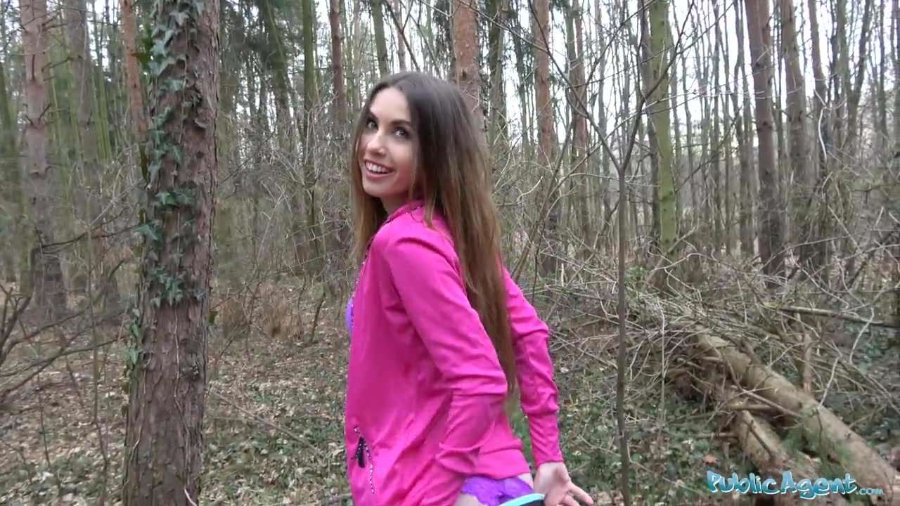 Public agent sexy jogger fucked in the woods 10