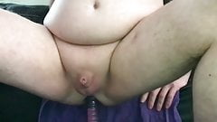 Anal Dildo Riding with handsfree Cumshot