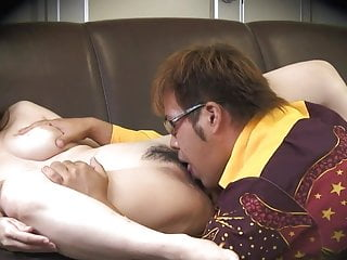Preview 4 of Dirty dude gets to bang a naughty brunette on the sofa
