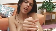 Shy Love Gives Awesome Handjob while Talking