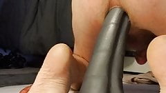 Anal stuffing with squarepeg toys...anaconda and worm