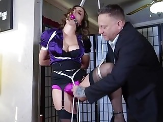 Office Girl Crotch Rope Punished