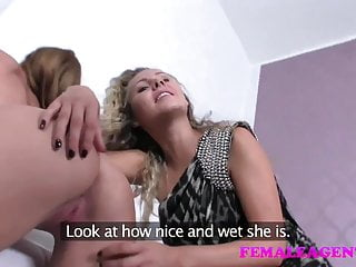 Female Agent Vision Of Beauty And Her Dripping Wet Pussy