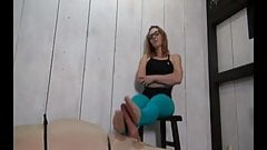 Nerdy Girl in glasses like Footjob 13