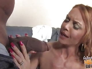 Marvelous white mom fucks black guys to pay the son's debt