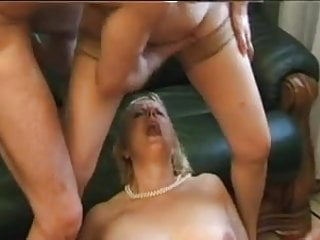 French Mature  Blonde Bbw Anal Mom In Groupsex Dp
