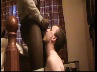White Boy Blows Black Cock