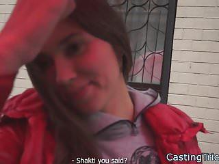 Smalltits babe banged at fake casting