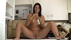 Makayla Masturbating With A Spoon