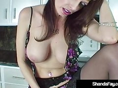 Hot Homemaker Shanda Fay Gets Hubby's Tongue & Cock In Pussy