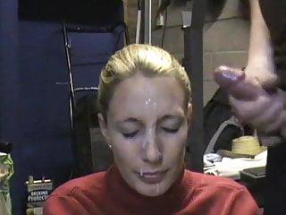 hard facial for submissive wife - sadistic husband