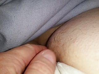 wifes hairy ass in cotton pantys before she wakes up