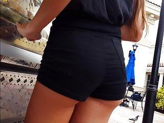 Candid voyeur hot legs teen tight shorts and ass blonde