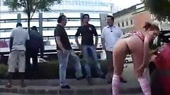 Nude street dancing