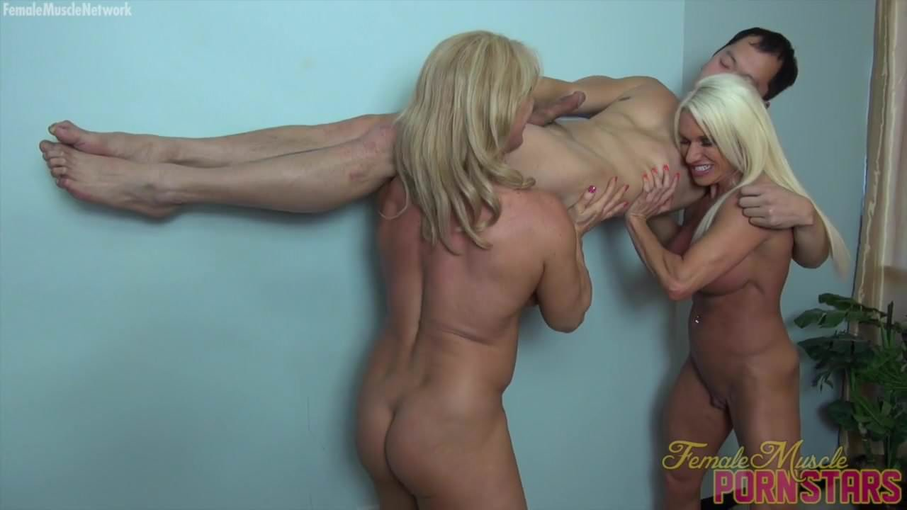 Wife and girlfriend swallow hubby