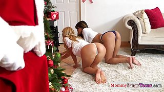 Busty stepmommy doggystyled by Santa Clause