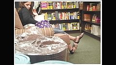 Candid Bookstore Feet in Strappy Sandals 2010 's Thumb
