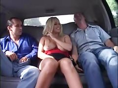 Alicia Rhodes Picked up by Two Guys