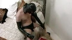blonde in latex fucked by gimp
