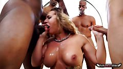 Cali Carter 5 Big Black Cock Blowbang