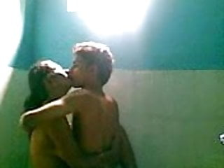 Sexy girl in bathroom bj with bf