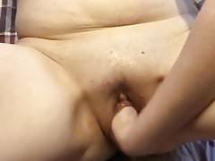 Fist fucking my pussy
