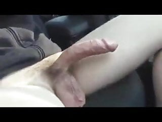 Blonde girl shows her boobs and sucks cock in the car