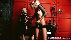 PureXXXFilms kinky lesbian anal action