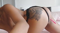 Super Hot Brunette Asian Masturbating Real Orgasm