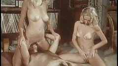 Two incredibly hot california beauties take it off and share a stiff lucky cock