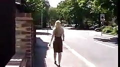 Uk skank outdoor pissing 4
