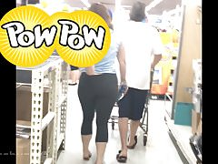 Round Butt Pawg in Spandex (picking wedgie out)
