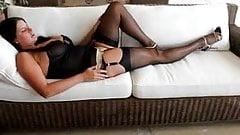 Milf nylon stockings something