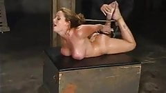 Rebellious slave enjoys her training!