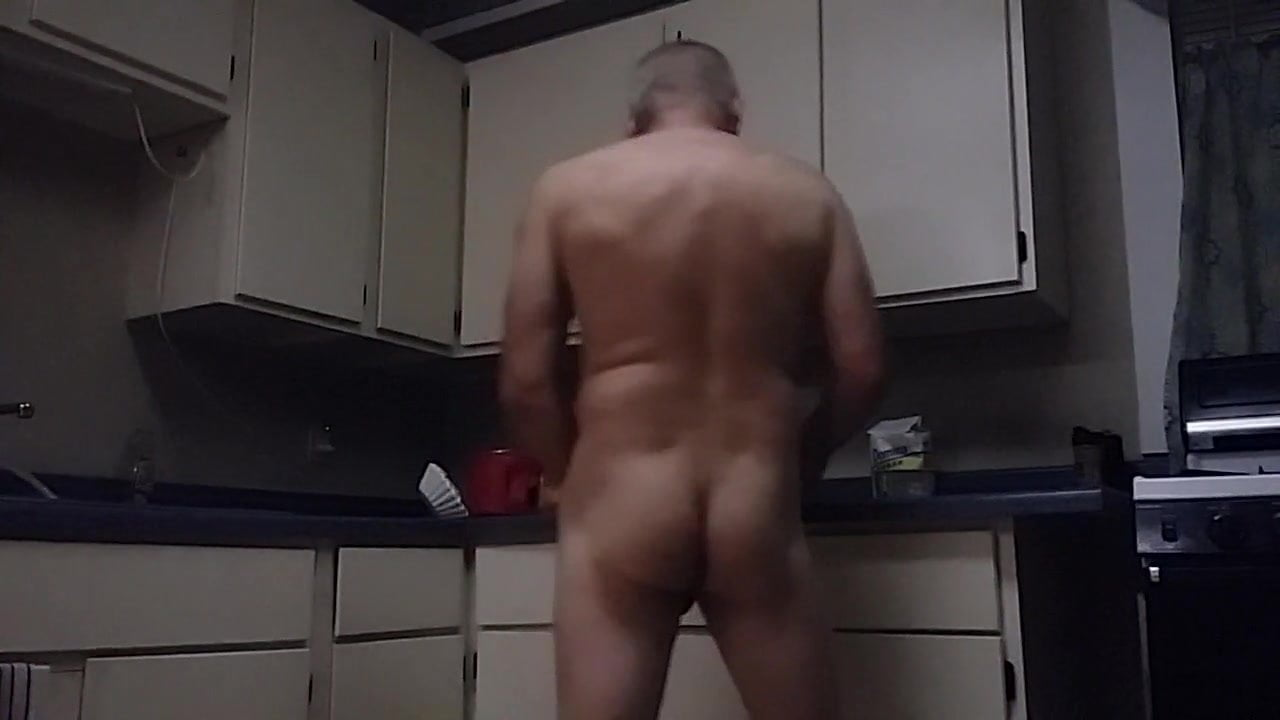 Nakedguy1965 eats food from my booty