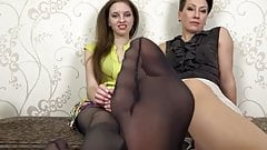 Pantyhose feet and soles