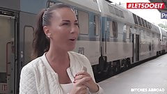 LETSDOEIT -Czech Babe Goes Wild And Horny In Her Trip Abroad