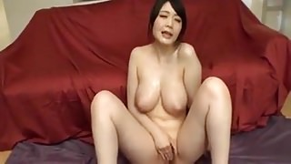 Japanese - Big Naturals Babe - Bukkake & Masturbation