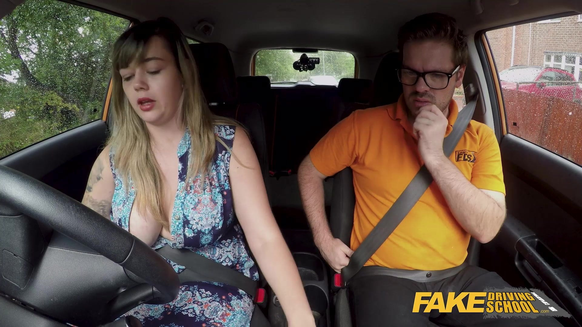 Fake Driving School Big Tits