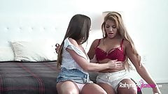 Rahyndee James with Mercedes Carrera lesbian sex
