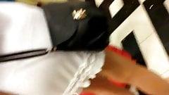 white skirt thong