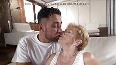 A horny grandma is fucked by a